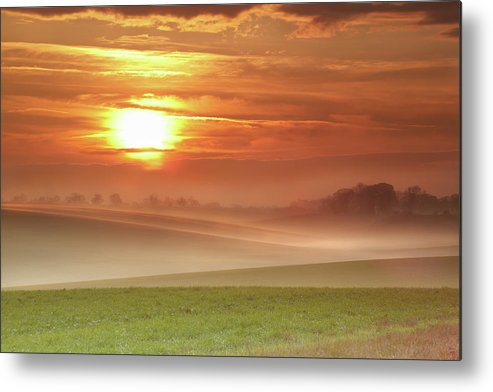 Tranquility Metal Print featuring the photograph Ripples In Mist by Andy Freer