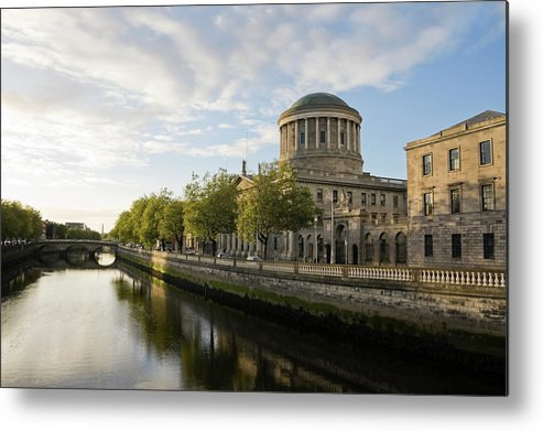 Dublin Metal Print featuring the photograph River Liffey And The Four Courts In by Lleerogers