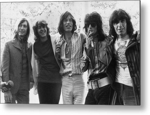 Rock Music Metal Print featuring the photograph Rolling Stones by J. Wilds