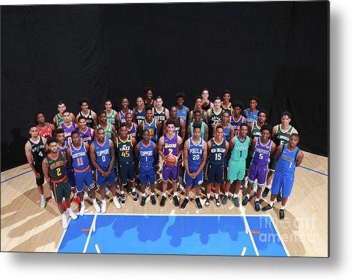 Nba Pro Basketball Metal Print featuring the photograph Rookie Photo Shoot 2017 by Joe Murphy