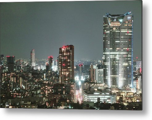 Tokyo Tower Metal Print featuring the photograph Roppongi From Tokyo Tower by Spiraldelight