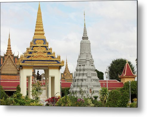 Southeast Asia Metal Print featuring the photograph Royal Palace In Phnom Penh, Cambodia by Laurent