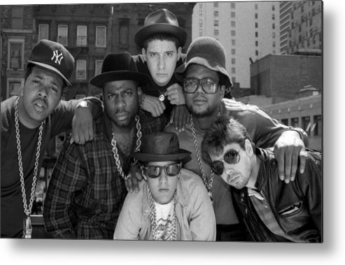 1980-1989 Metal Print featuring the photograph Run-dmc & Beastie Boys by New York Daily News Archive