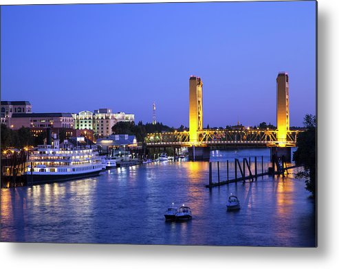Scenics Metal Print featuring the photograph Sacramento River And Tower Bridge At by Picturelake