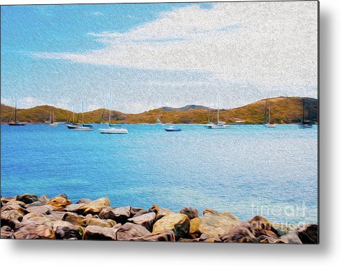 Eastern Caribbean Metal Print featuring the digital art Sailboat Adventure in San Juan Puerto Rico by Kenneth Montgomery