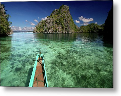 Tranquility Metal Print featuring the photograph Sailing Over Coral Coron by Photo ©tan Yilmaz