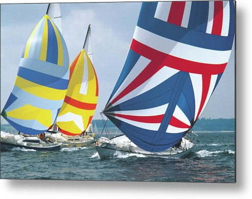 Wind Metal Print featuring the photograph Sailing Race by John Foxx