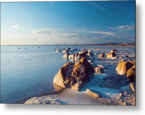 Scenics Metal Print featuring the photograph Salt Lake by Dem10