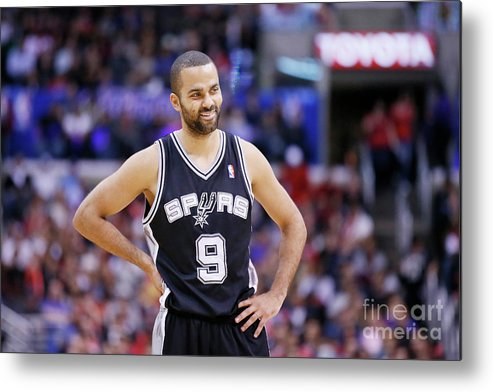Point Guard Metal Print featuring the photograph San Antonio Spurs V Los Angeles Clippers by Chris Elise