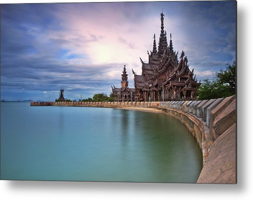 Tranquility Metal Print featuring the photograph Sanctuary Of Truth by Nutexzles