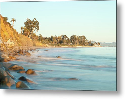 Water's Edge Metal Print featuring the photograph Santa Barbara by Andrewhelwich