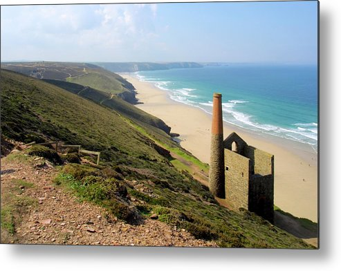 Water's Edge Metal Print featuring the photograph Scenic Cornwall - St Agnes Head by Chrisat