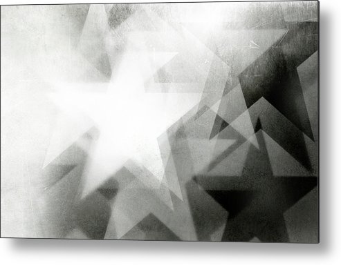 Art Metal Print featuring the photograph Scratchy Star Background by Loudredcreative