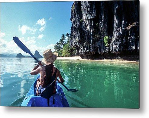 Southeast Asia Metal Print featuring the photograph Sea Kayaking by John Seaton Callahan