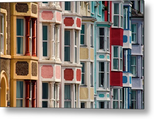 Row House Metal Print featuring the photograph Seafront Houses, Aberdovey, Wales by David Tait