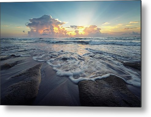 Sea Metal Print featuring the photograph Seascape View by Steve DaPonte