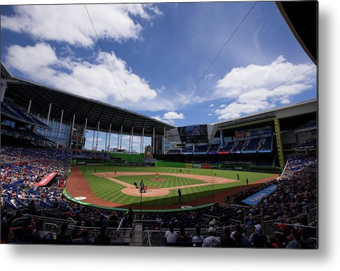 Florida Metal Print featuring the photograph Seattle Mariners V Miami Marlins by Rob Foldy