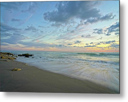 Seascape Metal Print featuring the photograph Serene Seascape 2 by Steve DaPonte