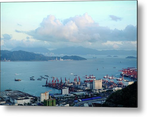 Tranquility Metal Print featuring the photograph Shenzhen Bay And Shekou Port by Wilson.lau