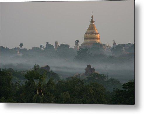 Tranquility Metal Print featuring the photograph Shwezigon Pagoda, Bagan by Joe & Clair Carnegie / Libyan Soup