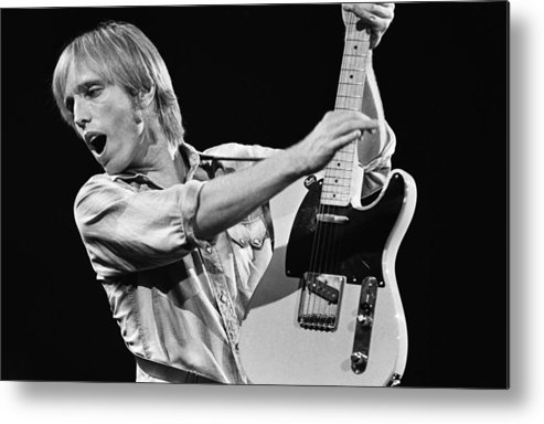 Tom Petty Metal Print featuring the photograph Singer Tom Petty Performs In Concert by George Rose