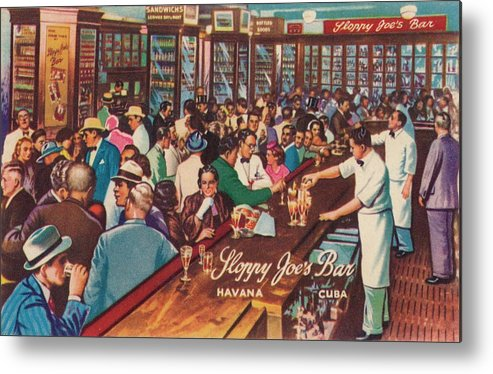 People Metal Print featuring the photograph Sloppy Joes Bar, Havana, Cuba, 1951 by Print Collector