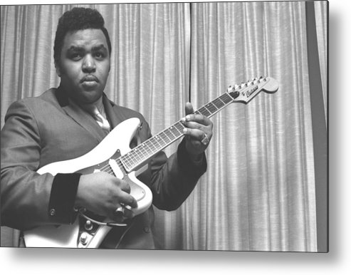 Music Metal Print featuring the photograph Soul Singer In Nyc by Michael Ochs Archives