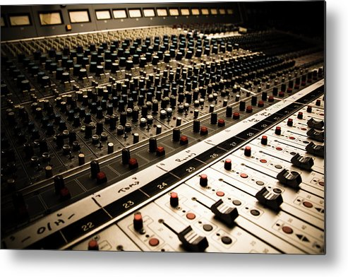 Shadow Metal Print featuring the photograph Sound Board In Color by Halbergman