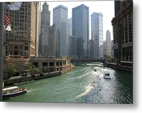 Downtown District Metal Print featuring the photograph Spectacular Chicago Downtown by Ekash