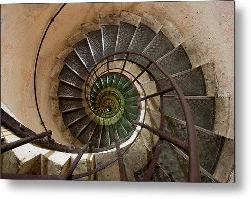 Built Structure Metal Print featuring the photograph Spiral Staircase In The Arc De by Mint Images/ Art Wolfe