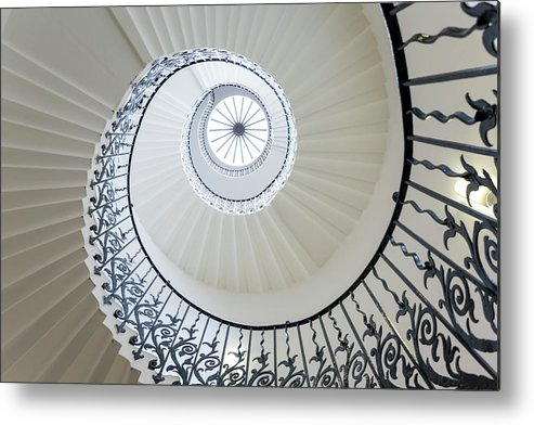 Queen's House Metal Print featuring the photograph Spiral Staircase, The Queens House by Peter Adams