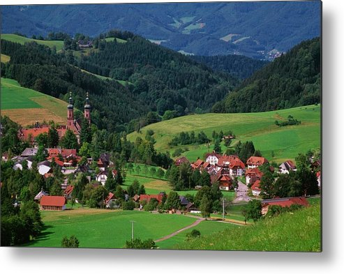 Architectural Feature Metal Print featuring the photograph St. Peters Abbey, Black Forest, Germany by Bilderbuch  / Design Pics