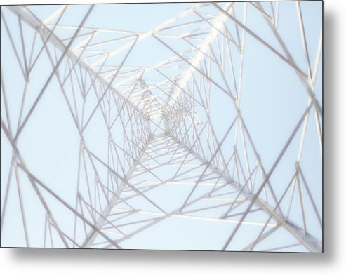 Radial Symmetry Metal Print featuring the photograph Steel Tower by Kaneko Ryo