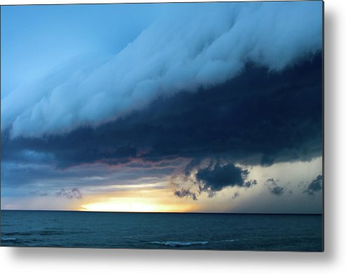 Water's Edge Metal Print featuring the photograph Storm Cell by Djphotography
