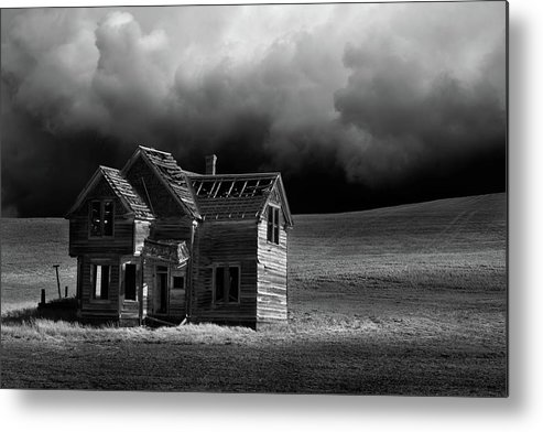Grass Metal Print featuring the photograph Stormy Weather by Davealan