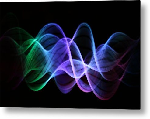 Particle Metal Print featuring the photograph Stringlight1 by Merrymoonmary