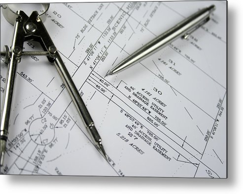 Plan Metal Print featuring the photograph Subdivision Development Planning by Lvsigns