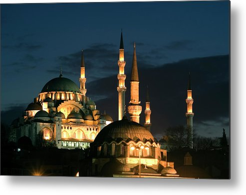 Istanbul Metal Print featuring the photograph Suleymaniye Mosque Istanbul by Lebazele