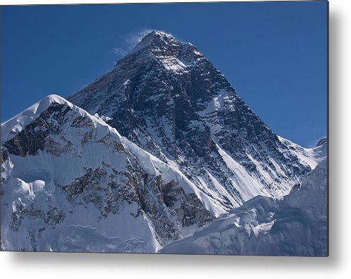 Scenics Metal Print featuring the photograph Summit Of Mt Everest8850m Great Details by Diamirstudio