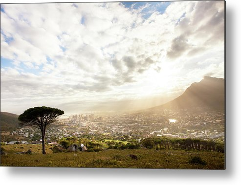 Scenics Metal Print featuring the photograph Sunrise Over Cape Town South Africa by Epicurean