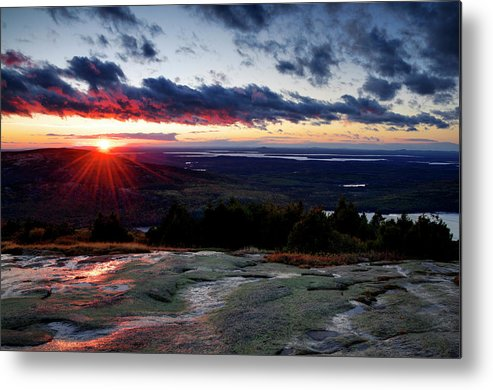 Scenics Metal Print featuring the photograph Sunrise View From Cadillac Mountain by Ogphoto