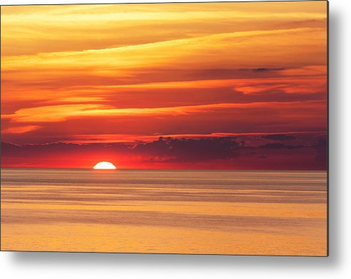Scenics Metal Print featuring the photograph Sunset Over Lake Erie by Dszc