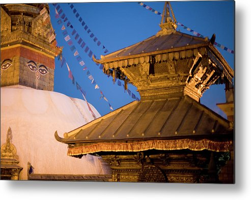 People Metal Print featuring the photograph Swambutayah - The Monkey Temple by Caval