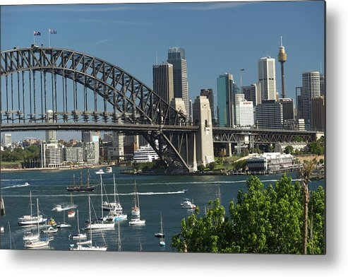 Sydney Harbor Bridge Metal Print featuring the photograph Sydney Harbour, New South Wales by Robin Smith