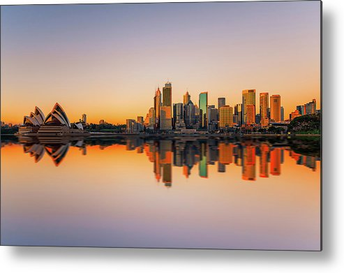 Tranquility Metal Print featuring the photograph Sydney Opera House And Skyline by The Trinity