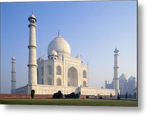 Scenics Metal Print featuring the photograph Taj Mahal, Agra, Uttar Pradesh, India by Frans Lemmens