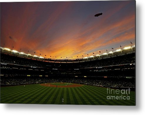 Playoffs Metal Print featuring the photograph Texas Rangers V New York Yankees, Game 5 by Nick Laham