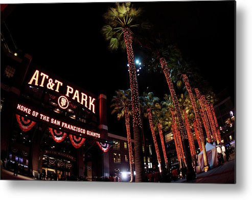 Game Two Metal Print featuring the photograph Texas Rangers V San Francisco Giants by Christian Petersen