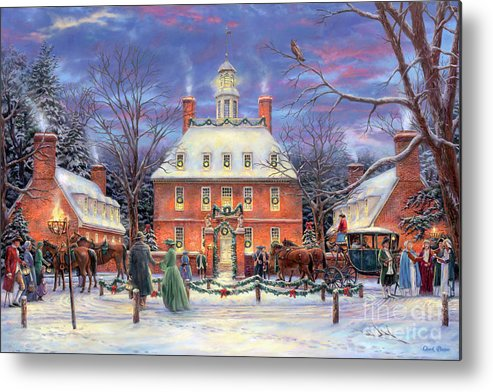 Williamsburg Metal Print featuring the painting The Governor's Party by Chuck Pinson