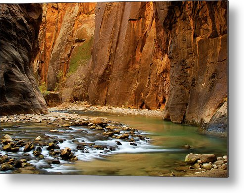 Zion Narrows Metal Print featuring the photograph The Narrows by Beklaus